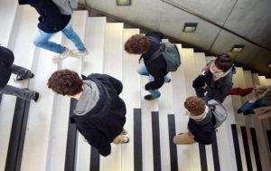 aperçu de l'escalier piano
