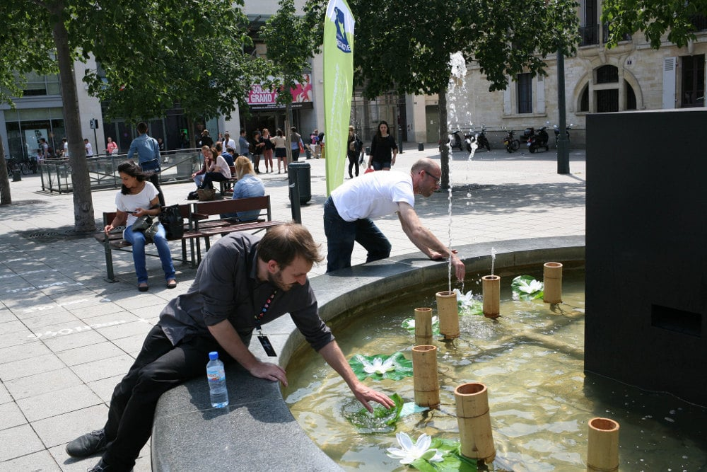 animation fontaine musicale