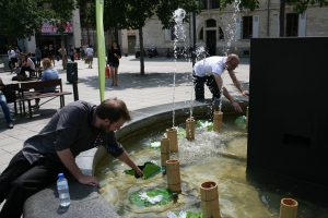 installation fontaine musicale