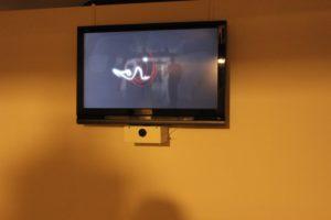 ecran tv light painting