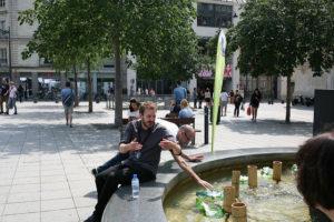 aperçu spectateurs de la fontaine