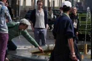 aperçu spectacteurs de la fontaine