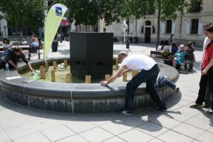 la fontaine musicale installé