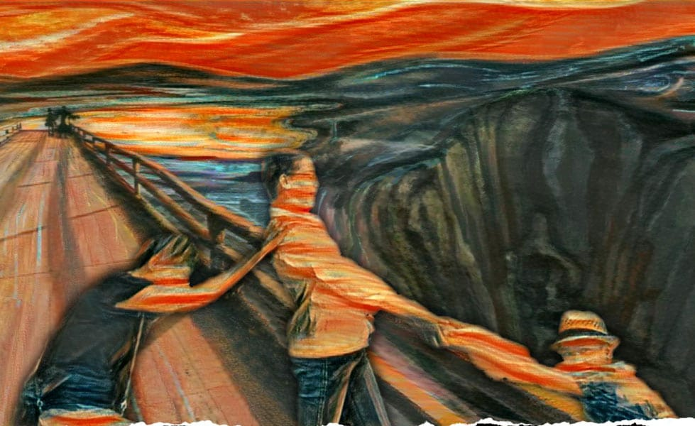 tableaux vivants munch le cri